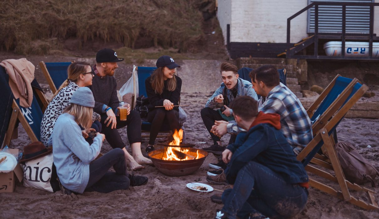 Friends around the camp fire