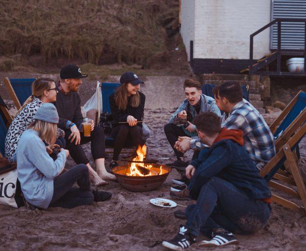 Friends around the camp fire